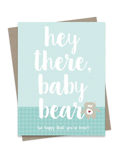 Hey There Baby Bear Blue