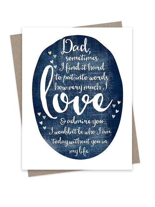 Love & Admire Dad