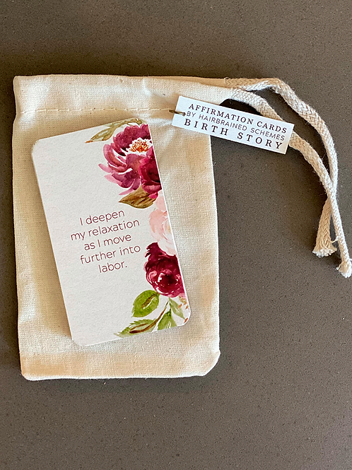 Birth Story Affirmations Cards - Floral