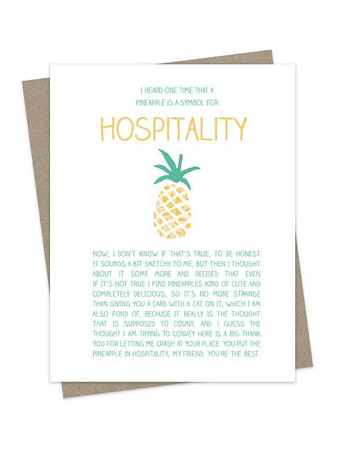 Hospitality Pineapple