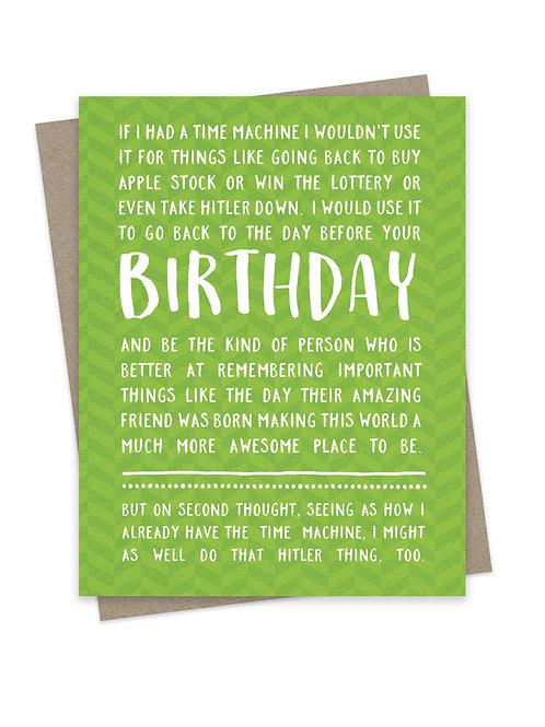 Birthday Time Machine