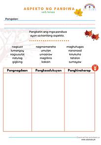 Pandiwa Worksheets