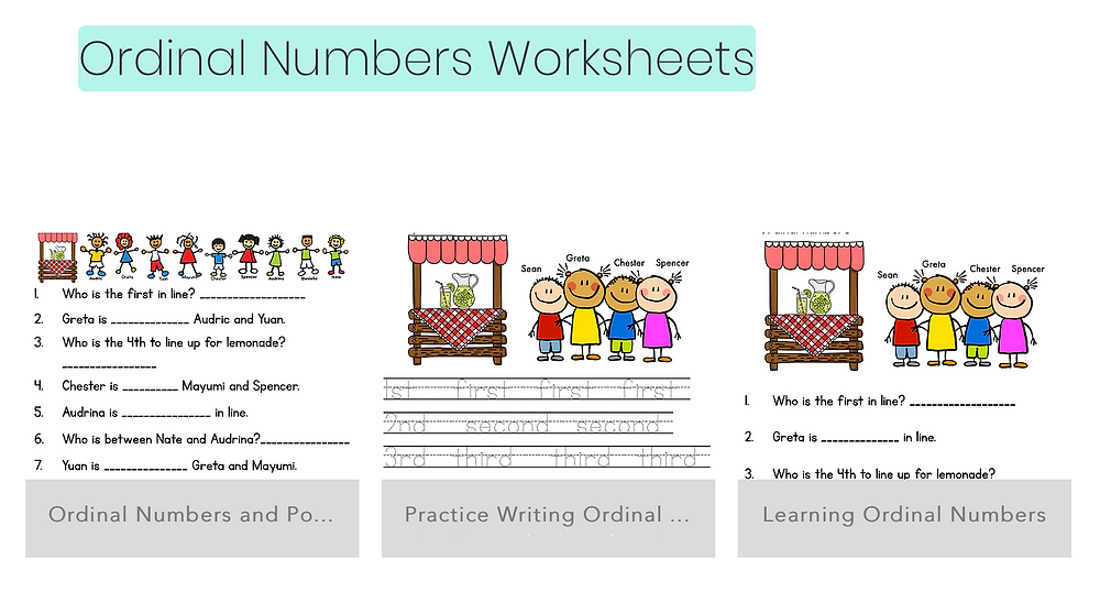 Free and Downloadable Math Worksheets for Kinder and 1st Grade