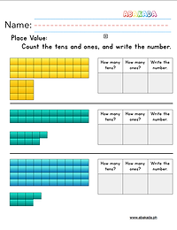 Place Value Tens and Ones Worksheet 3