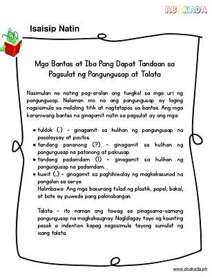 Mga Bantas, Talata, Grade 2 Filipino, samutsamut, Filipino homeschool, homeschoolingmomma, teacher abi, worksheetsbyteacherabi