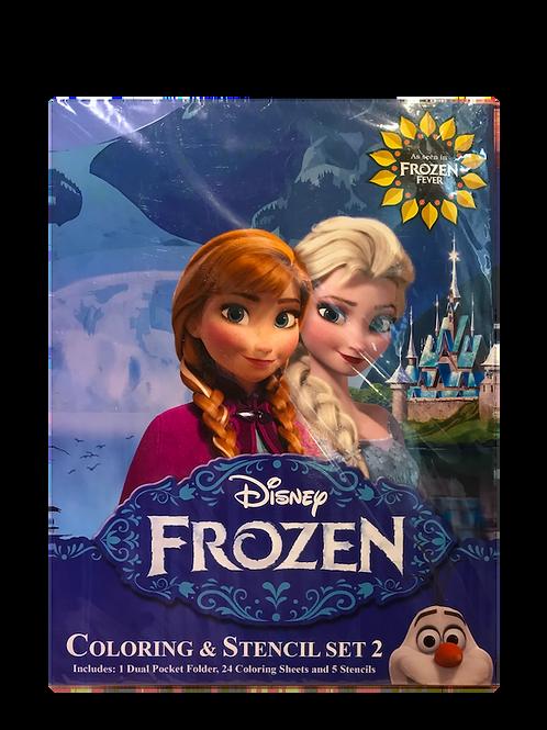 Disney Frozen Coloring and Stencils Set 2