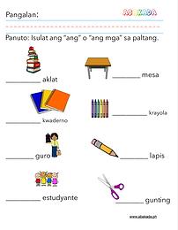 Mga Bagay na Makikita sa Paaralan: Ang at Ang Mga