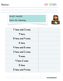 Place Value Tens and Ones Worksheet 1