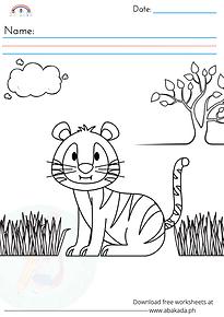 Tiger Cub Coloring Sheet