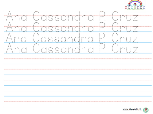Personalized Handwriting Sheets-Manuscript