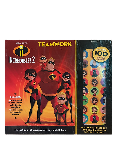 Disney Pixar - Incredibles 2 Activity and Sticker Book