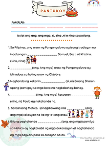 Pangangaluwa: Ang, Ang Mga, Si, Sina, Ni at Nina