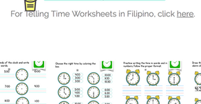 New Worksheets: Telling Time and Long Vowel Sounds