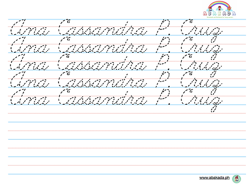 Personalized Handwriting Sheets - Cursive