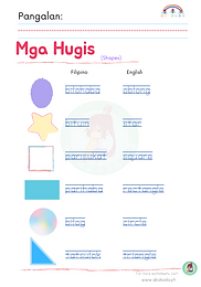Mga Hugis Worksheet 3
