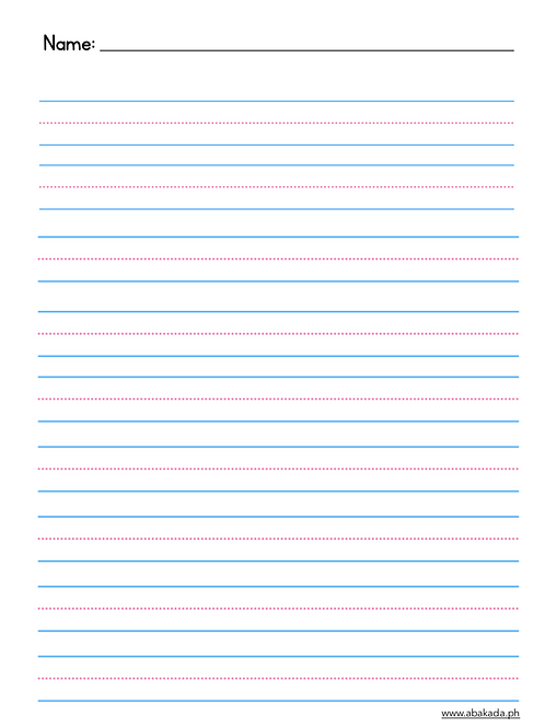 Blank Writing Sheets