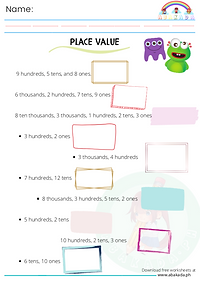 Place Value: Write the Numbers