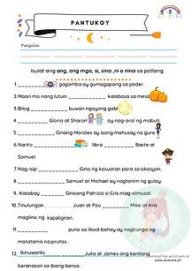 Pantukoy: Ang, Ang Mga, Si, Sina, Ni at Nina