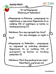 Uri ng Pangungusap - Patanong at Padamdam