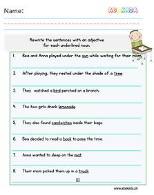 Adjectives Worksheet 3