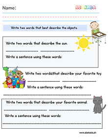 Write Sentences with Adjectives
