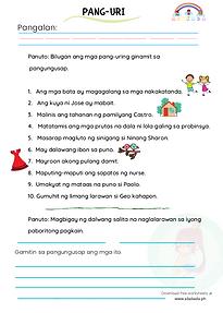 Pang-uri Worksheets