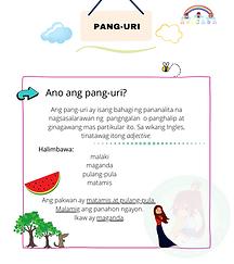 Pang-uri Printable