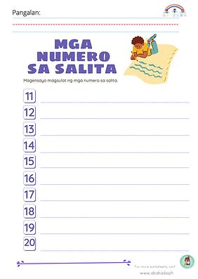 Magsulat ng mga Numero sa Salita