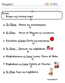 Si at Sina Worksheet