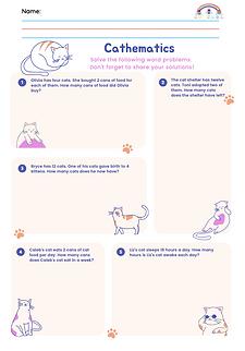5 Cat Math Word Problems