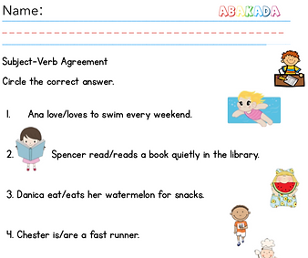Subject-Verb Agreement Worksheet 2