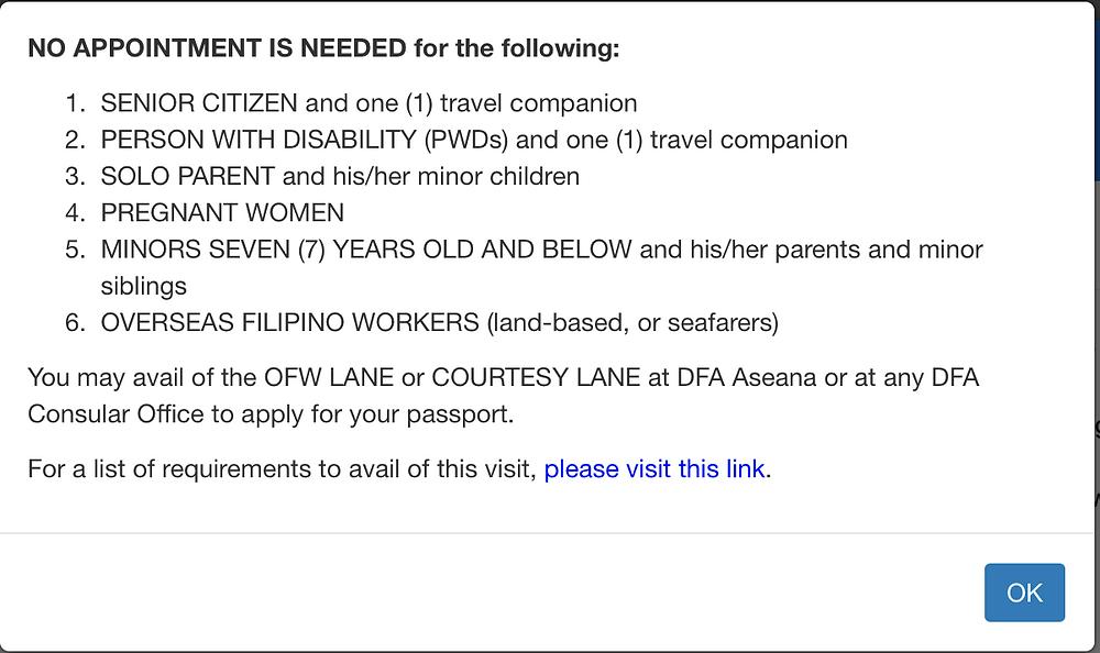 Philippine Passport Appointment