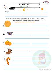 Pang-uri Worksheet 1