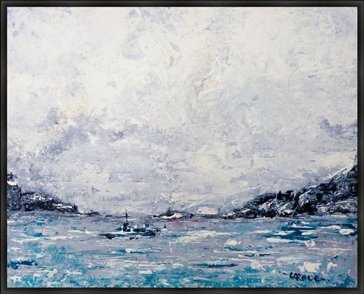 Lone Sailor - Framed Canvas Print