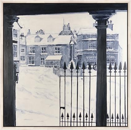Market Square - Kirkby Stephen - Framed Canvas Print