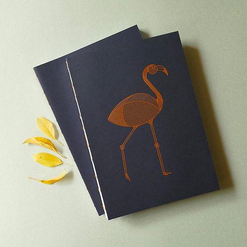 carnet illustration flamant rose