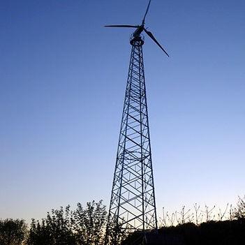 Torre eólica tipo treliça