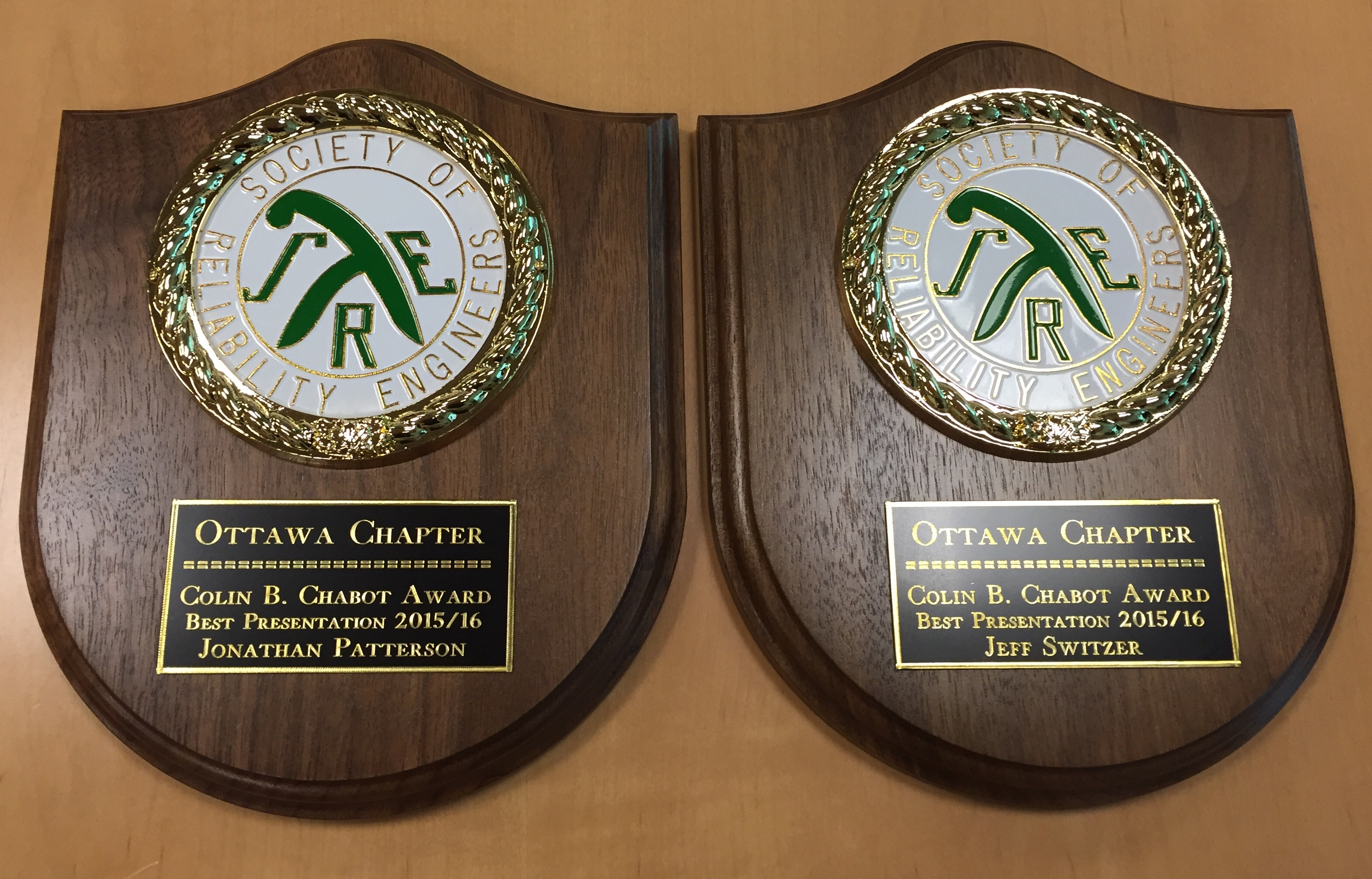 Colin Chabot 2015 2016 Winning Plaques 2