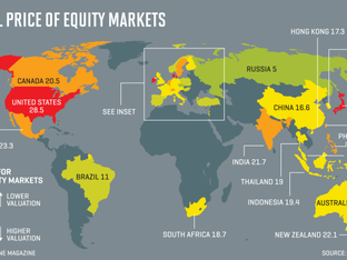 This Map Will Show You the World's Most Expensive Stock Markets
