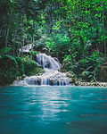 photography-of-waterfalls-between-trees-