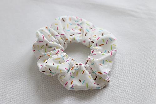 White Sprinkles Scrunchie