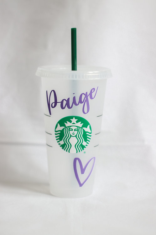 Your Name Here Starbucks Cold Cup
