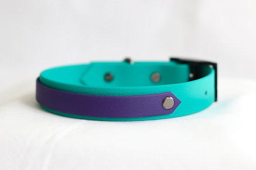 Blueberry Ocean Striped Collar