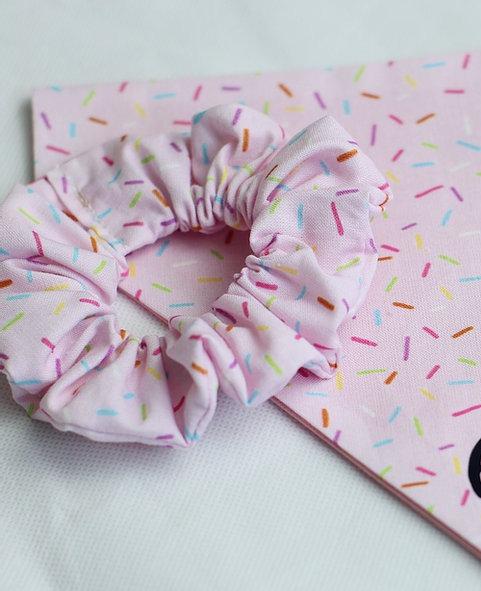 Pink Sprinkles Scrunchie