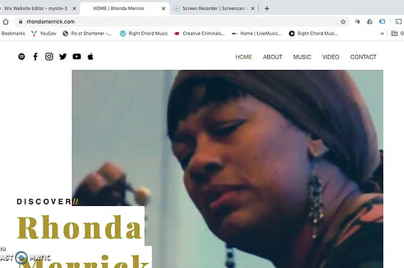 Rhonda Merrick Website