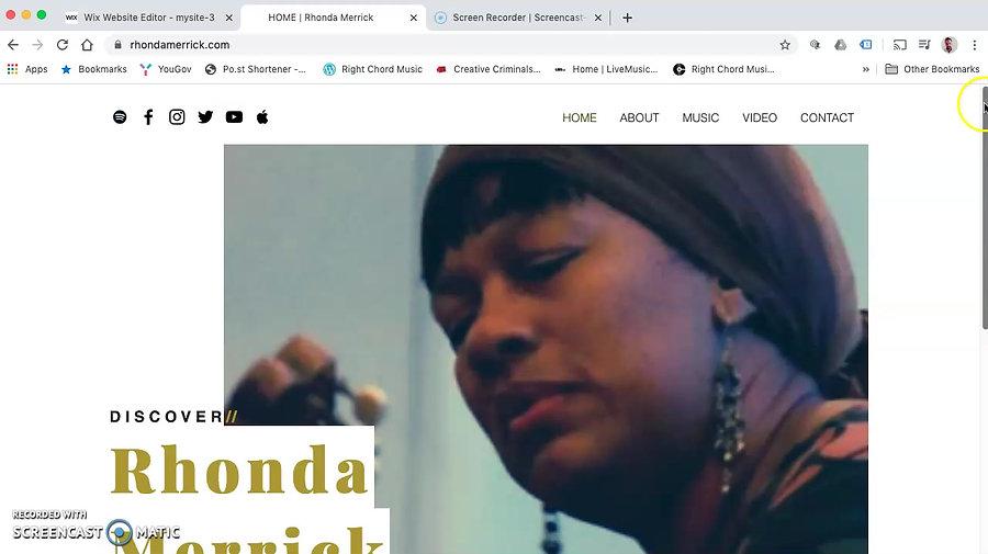 Rhonda Merrick Website