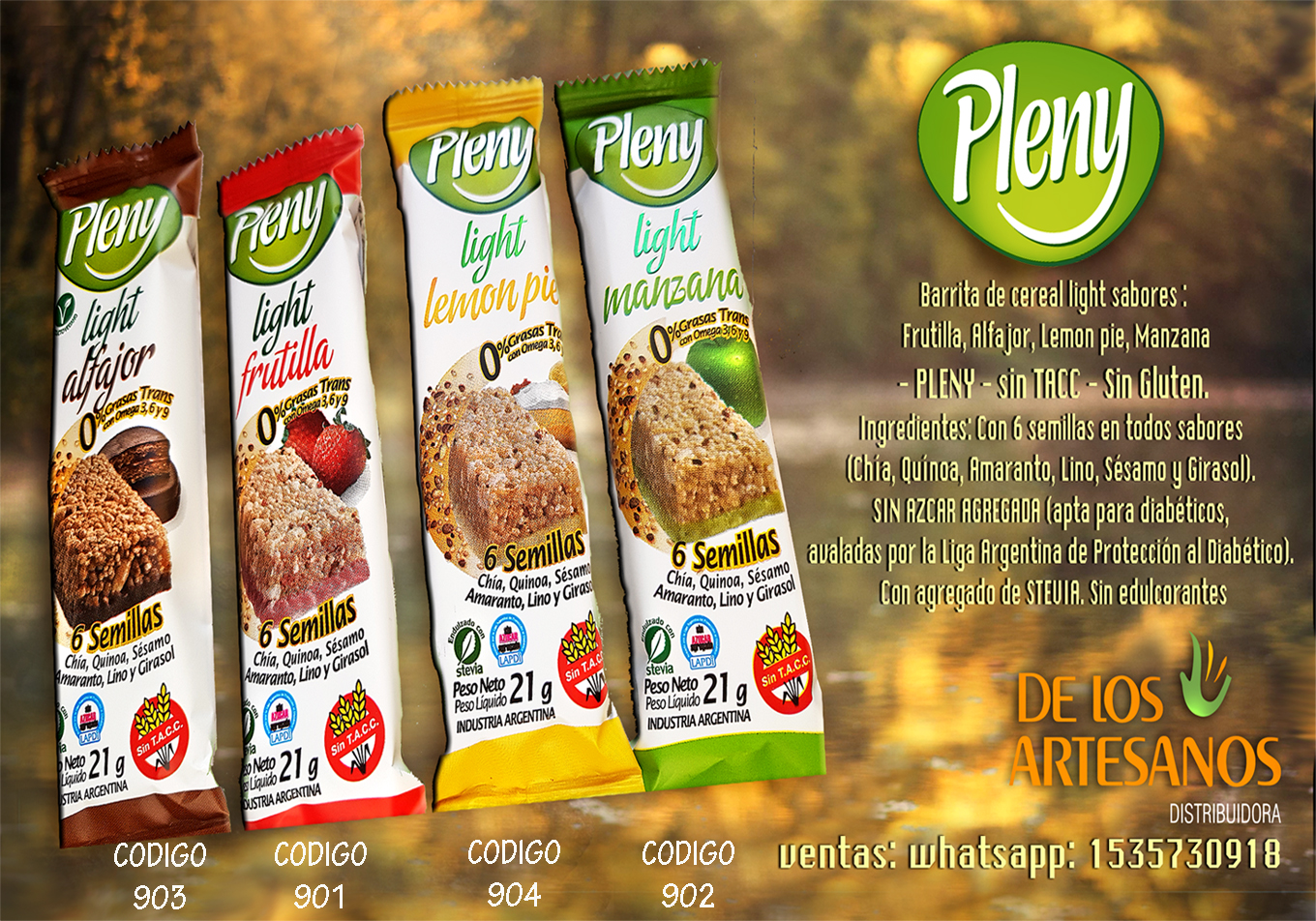 ✅  pleny light SIN TACC LIBRE GLUTEN Y LIGHT