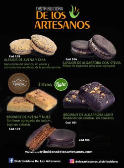 ✅  alfajores AVENA Y CHIA - ALFAJOOR ALGARROBA LIGHTy brownie epuyen light, bajos en calorias