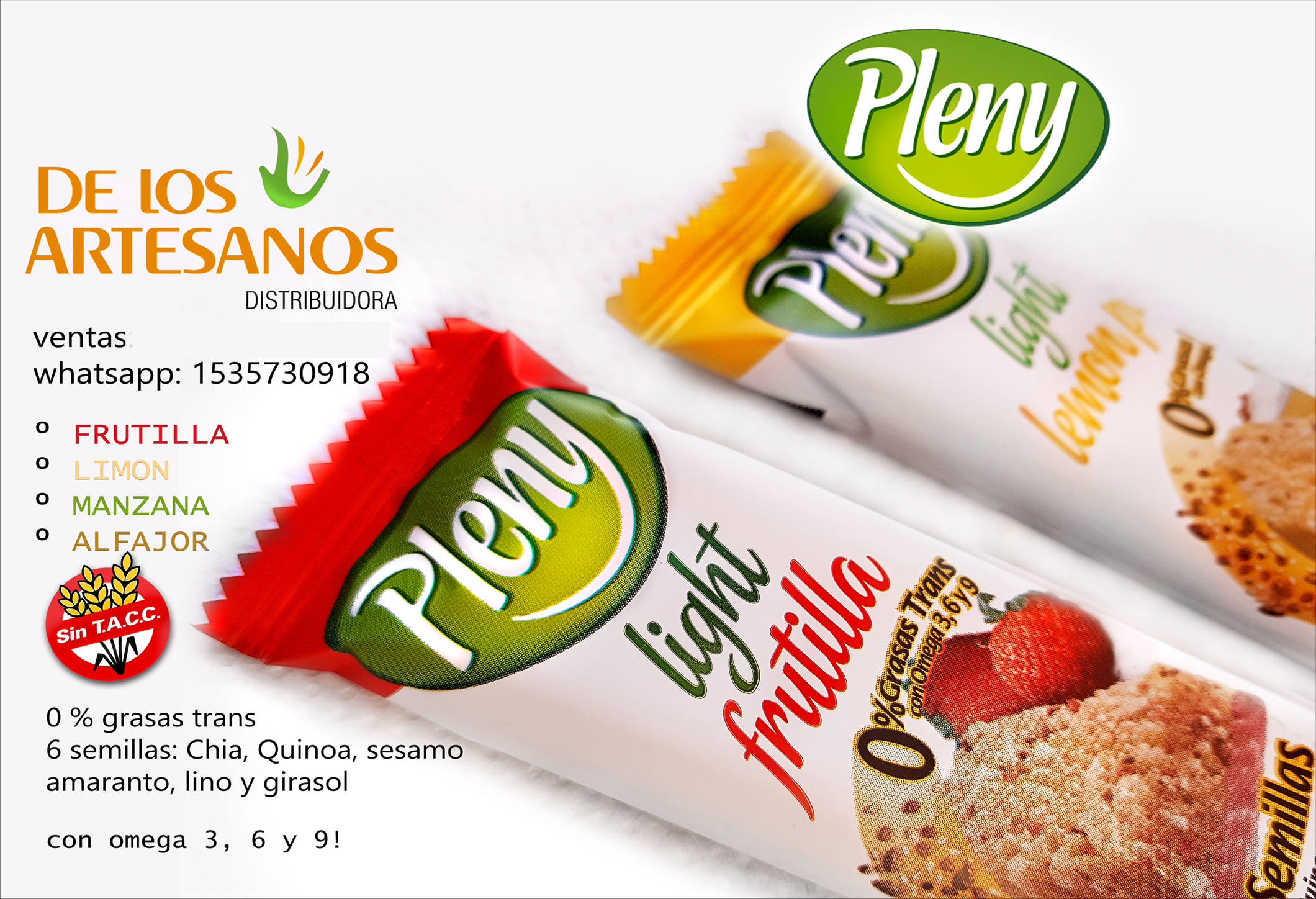 PLENY LIGHT BARRITA PLENY LIGHT LIBRES DE GLUTEN, SIN TACC