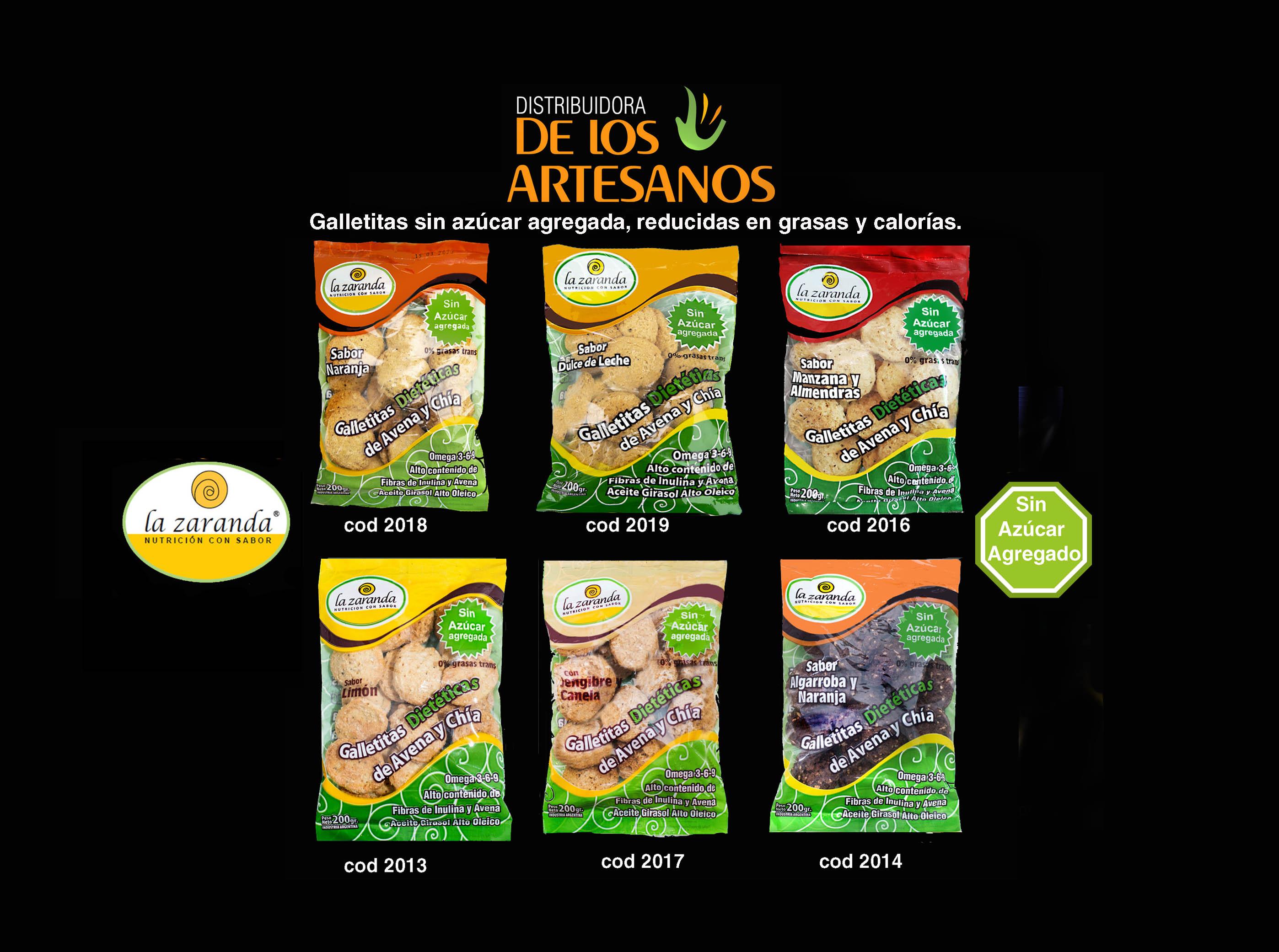 ✅  La zaranda Galletitas dietéticas de avena y chía